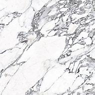 Splashwall Matt Black & white Greek Marble effect MDF Splashback, (H)1220mm (W)2440mm (T)10mm