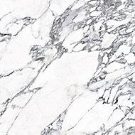 Splashwall Matt Black & white Greek Marble effect MDF Splashback, (H)600mm (W)2440mm (T)10mm