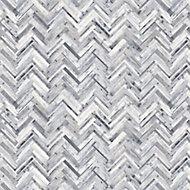 Splashwall Matt Grey Herringbone MDF Splashback, (H)1220mm (W)2440mm (T)10mm