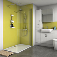 Splashwall Matt Lemon 2 sided Shower Panel kit (L)1200mm (W)1200mm (T)4mm