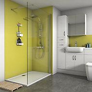 Splashwall Matt Lemon 3 sided Shower Panel kit (L)1200mm (W)1200mm (T)4mm