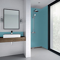 Splashwall Matt Ocean Shower Panel (H)2440mm (W)1200mm (T)4mm