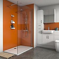 Splashwall Matt Pumpkin 2 sided Shower Panel kit (L)1200mm (W)1200mm (T)4mm