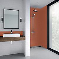 Splashwall Matt Pumpkin Shower Panel (H)2440mm (W)1200mm (T)4mm
