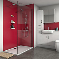 Splashwall Matt Rose 3 sided Shower Panel kit (L)1200mm (W)1200mm (T)4mm
