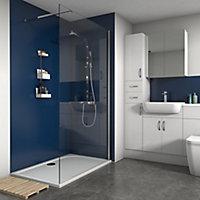 Splashwall Matt Royal blue 3 sided Shower Panel kit (L)1200mm (W)1200mm (T)4mm
