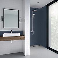 Splashwall Matt Royal blue Shower Panel (H)2440mm (W)900mm (T)4mm