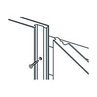 Splashwall Matt Shabby wood Shower Panel (H)2420mm (W)600mm (T)11mm