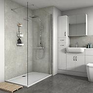Splashwall Matt White concrete Panel (H)2420mm (W)600mm (T)11mm