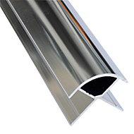 Splashwall Silver effect Panel external corner joint, (L)2420mm