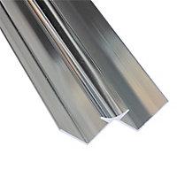 Splashwall Silver effect Panel internal corner joint, (L)2420mm