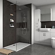 Splashwall Silver oxide Shower Panel (H)2420mm (W)1200mm (T)11mm