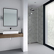 Splashwall Splashwall Grey stone Shower panel (H)2420mm (W)585mm (T)11mm