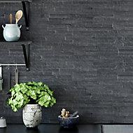 Splitface Grey Matt Natural stone Wall Tile, Pack of 12, (L)400mm (W)150mm