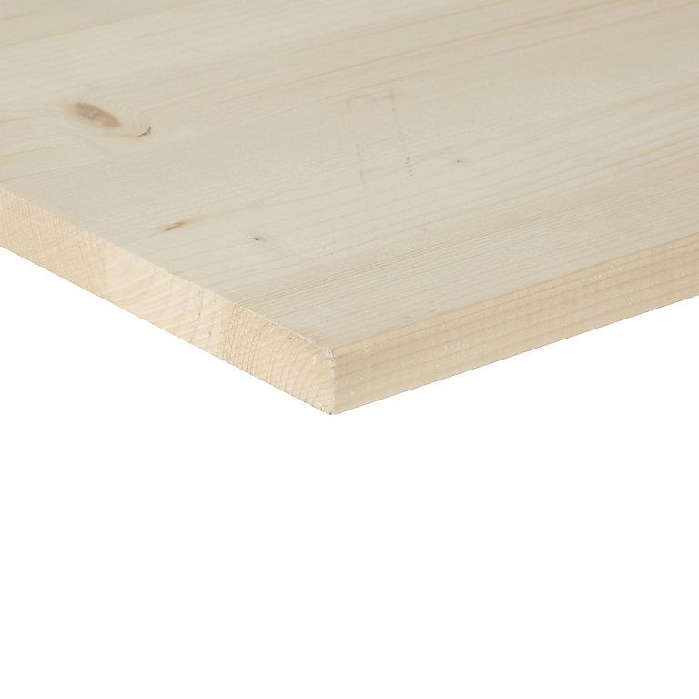 Square Edge Knotty Pine Furniture Board L 1 2m W 200mm T 18mm Diy At B Q