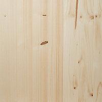 Square edge Knotty pine Furniture board, (L)2m (W)400mm (T)18mm