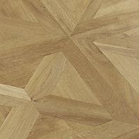 Staccato Natural Gloss Oak parquet effect Laminate Flooring Sample