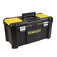 """Stanley 19"""" Metal & plastic 3 compartment Toolbox"""