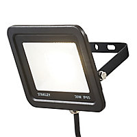 Stanley Black Mains-powered Cool white LED Floodlight 2400lm
