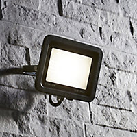 Stanley Black Mains-powered Cool white LED Floodlight 800lm