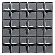 Stargazer Grey Mirror effect Glass 2x2 Mosaic tile, (L)300mm (W)300mm