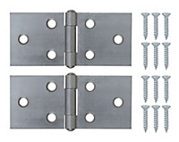 Steel Backflap Door hinge (L)38mm, Pack of 2