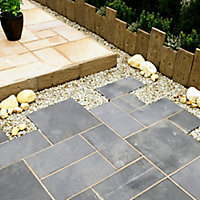 Stonewood Traditional Single sided Antique brown Paving edging (H)250mm (W)250mm (T)40mm
