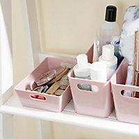 Studio 3.01 Blush Plastic Nestable Storage basket (H)50mm (W)120mm