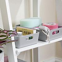 Studio 4.01 Grey Plastic Nestable Storage basket (H)60mm (W)170mm