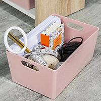 Studio 4.02 Blush Plastic Nestable Storage basket (H)110mm (W)170mm