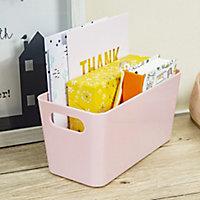 Studio 6.01 Blush Plastic Nestable Storage basket (H)100mm (W)100mm