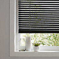 Studio Black Aluminium Venetian Blind (W)120cm (L)180cm