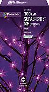 Supabrights Purple 200 LED Indoor & outdoor String lights