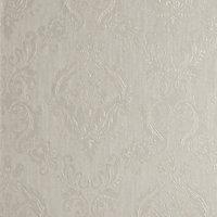 Superfresco Colours Cream Damask Textured Wallpaper