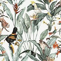 Superfresco Easy Amazonian island Multicolour Smooth Wallpaper