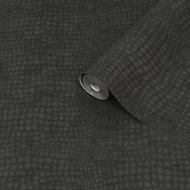 Superfresco Easy Black Crocodile Smooth Wallpaper