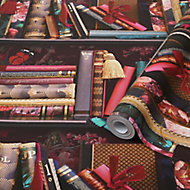 Superfresco Easy Bodleian Multicolour Metallic effect Smooth Wallpaper