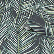 Superfresco Easy Green Palm leaves Smooth Wallpaper