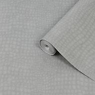 Superfresco Easy Grey Crocodile print Smooth Wallpaper