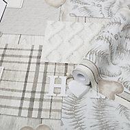 Superfresco Easy Grey Home Metallic effect Smooth Wallpaper