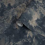 Superfresco Easy Navy Concrete effect Textured Wallpaper
