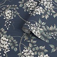 Superfresco Easy Navy Floral Smooth Wallpaper