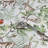 Superfresco Easy Neutral Woodland animals Smooth Wallpaper