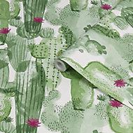 Superfresco Easy Noplaito Green Cactus Smooth Wallpaper