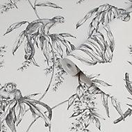 Superfresco Easy Saimiri Grey Monkey Smooth Wallpaper
