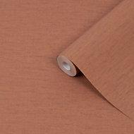 Superfresco Easy Textile uni Burnt orange Textured Wallpaper
