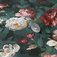 Superfresco Easy Vermeer Green Floral Smooth Wallpaper