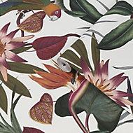 Superfresco Easy White Parrot Smooth Wallpaper