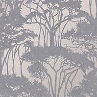 Superfresco Easy Zanzibar Grey Floral Textured Wallpaper