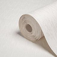 Superfresco Flame stitch White Lightening Textured Wallpaper